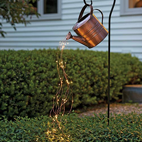 Watering Can Lights Star Shower Garden Lights Led String Lights, Art Light Copper Wire Fairy Light with Timer for Yard Button Battery Powered,Yard Light for Walkway Patio Lawn Backyard,Party Decor