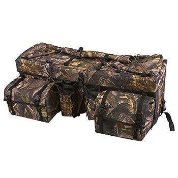 Rage Powersports Camouflage ATV Cargo Rear Rack Gear Bag with Topside Bungee Tie-Down Storage