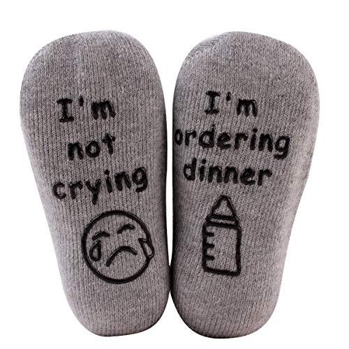 Haokaini Grappige sokken voor babyshower, die de kaart zeggen, de geschenken van het feest van welkomstfeest voor baby's, van gekamd katoen, antislip