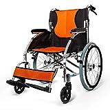 Hyy-yy Silla de rehabilitación médica, en silla de ruedas plegable portátil, portátil sillón de ruedas mayor engrosamiento de ruedas manual Ultra Ligero discapacitados CARRO de Suministros Médicos Méd
