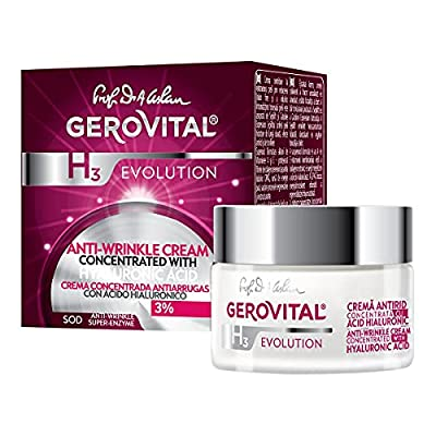 Gerovital H3 Evolution - 3% Hyaluronic Acid Anti-Wrinkle Cream - All skin types (50 ml) by Farmec