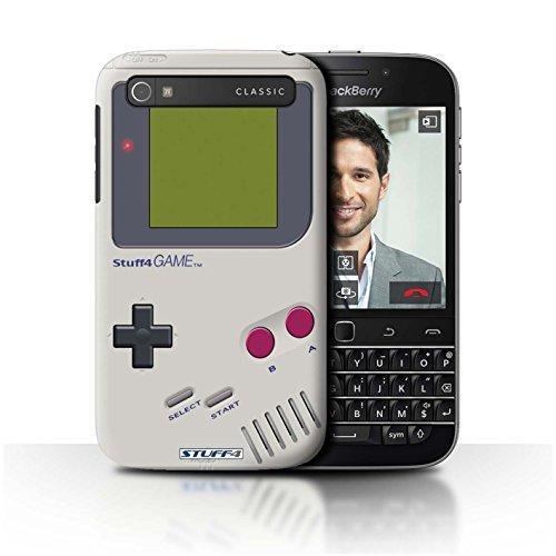 Hülle Für BlackBerry Classic/Q20 Spielkonsolen Nintendo Game Boy Design Transparent Ultra Dünn Klar Hart Schutz Handyhülle Case