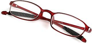 ab68deb6ae2b Wivily Women Men Flexible Reading Glasses Readers Strength Presbyopic  Glasses - Wine Red (+4.0