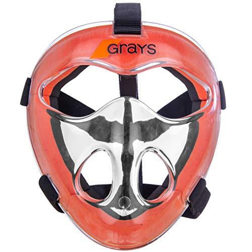 GRAYS Hockey-Gesichtsmaske, für Senioren, transparent, Orange