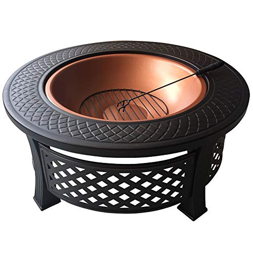 Outdoor Fire Pits Fire Pit Set, Wood Burning Pit - Includes Spark Screen and Log Poker - Great for Outdoor and Patio Home Barbecue Grill Carbon Stove Brazier Charcoal Heating Stove Indoor Grill Stove