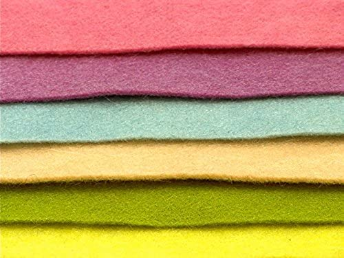 Wool Felt. 100% organic wool felt. Natural plant dyed. 6 sheets in pastel colours. by Magic Forest Shop
