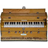 Harmonium, Maharaja Musicals, In USA, 3 1/4 Octave, Double Reed, Coupler, Natural Color, 7 Stops, Standard, Padded Bag, Tuned to A440, Musical Instrument Indian (PDI-126)