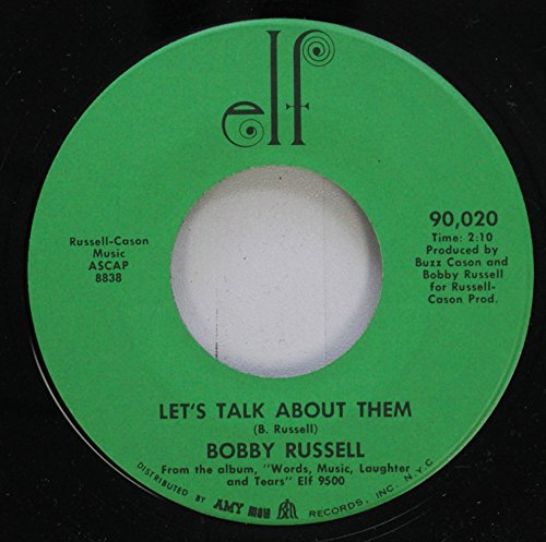 Bobby Rusell 45 RPM Let''s Talk About THEM / 1432 Franklin Pike Cricle Hero