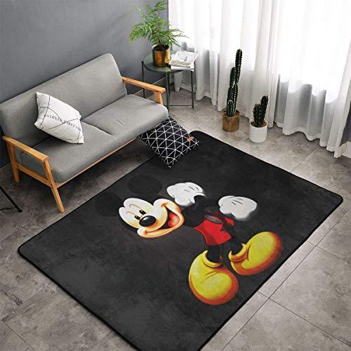 XIAODONG Micky-Maus-Teppich, superweich, gemütlich, Kunst-Dekoration, Polyester-Teppich für Wohnzimmer, Schlafzimmer, Küche, Schlafzimmer für Kinder, 152 x 99 cm