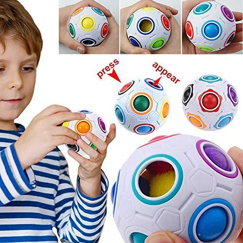 Armba Rainbow Magic Ball Educativo Cubo Rompecabezas Twist Gift Inteligencia Juguetes Velocidad