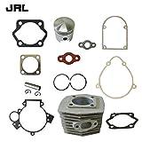 JRL - Juego de cilindros, pistones y juntas para motor de bicicleta motorizado de 80 cc