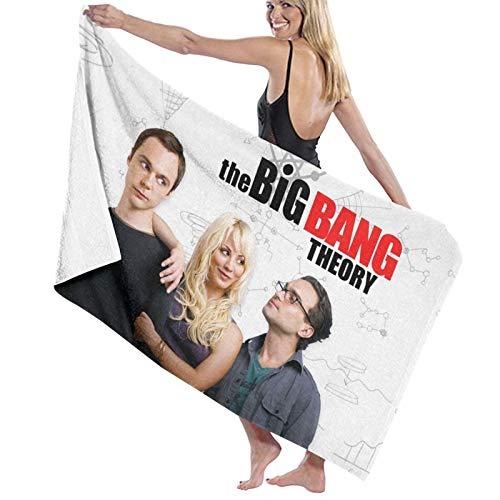 The Big B-ANG Theory Toalla de playa de fibra superfina manta de playa para hombres y mujeres, multiusos, cómoda para natación, spa, viajes, yoga, deportes, camping, tumbonas o ducha de 81 x 132 cm