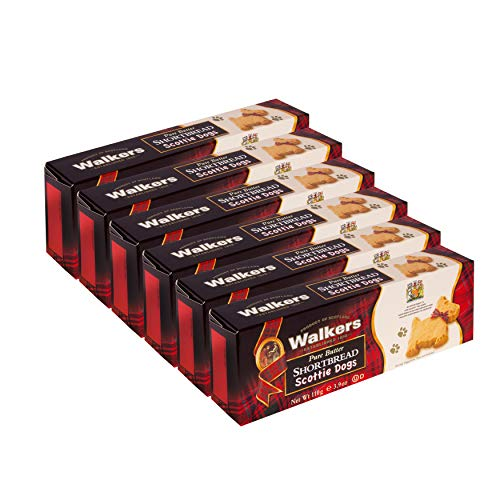 Walkers Traditional Pure Butter Shortbread Cookies Scottie Dogs,3.9 Ounce (6 Count) $7.02 with s/s