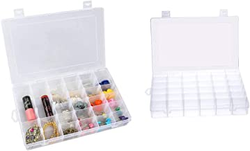 Dewberries Multipurpose 36 Compartment Transparent Plastic Storage Box with Removable Dividers- for Medicines, Pins, Pills, Jewelry, Screws, Stationary.