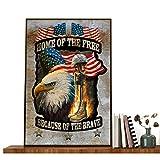 Poster #American Soldat Militär Druck The Bravery Of The Hawk #Amerikanischer Soldat & Flagge, Geschichte des amerikanischen Soldaten, kein Rahmen, 40,6 x 61 cm Poster