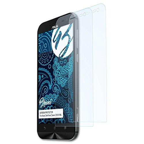 Bruni Schutzfolie kompatibel mit Asus ZenFone Zoom ZX551ML Folie, glasklare Bildschirmschutzfolie (2X)