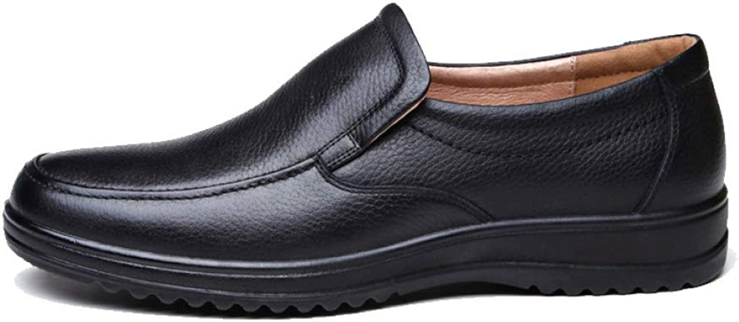 Leather Business Casual Men's shoes Work Home Lazy shoes