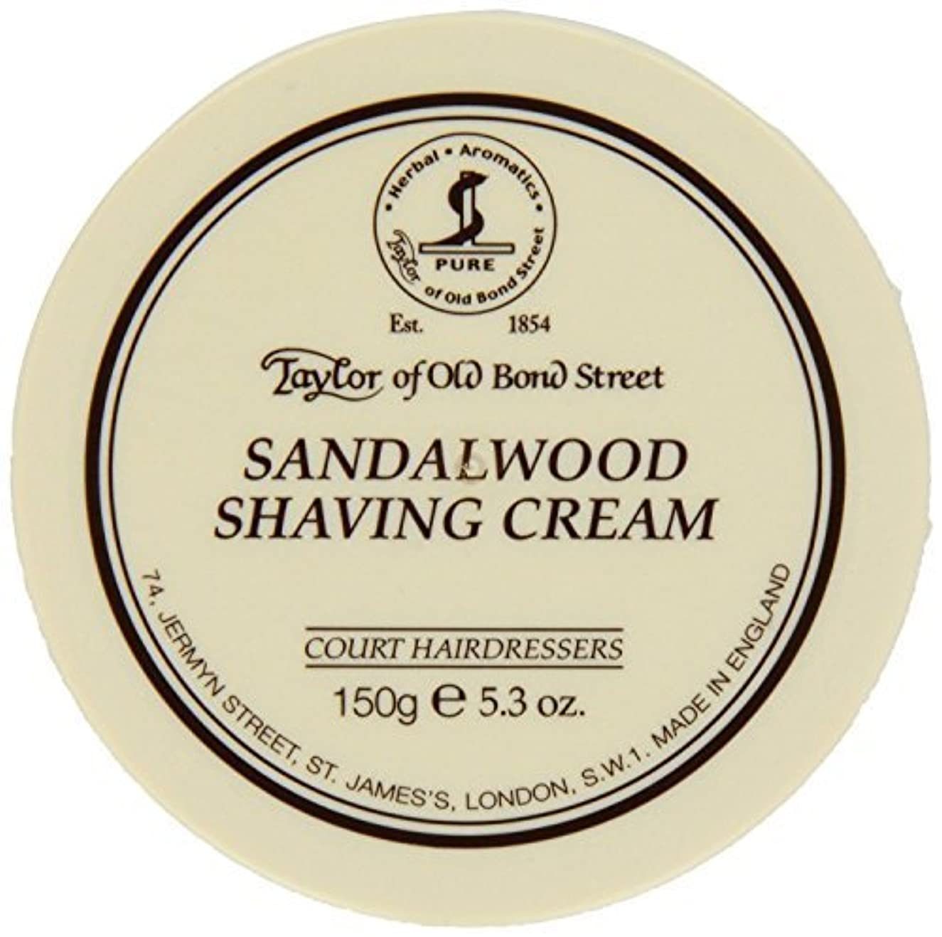 あからさま裏切り者画面Taylor of Old Bond Street SHAVING CREAM for SANDALWOOD 150g x 2 Bowls by Taylor of Old Bond Street [並行輸入品]