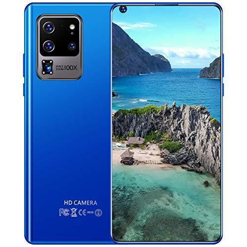 Telefonos Moviles Baratos, S30U Smartphone Libre, Pantalla De 7.3' Dotdisplay, Batería Grande De 5600 Mah, Android 10.0, Cámaras Triples De 24MP / 48MP, 5G Dual SIM, Face ID,Azul