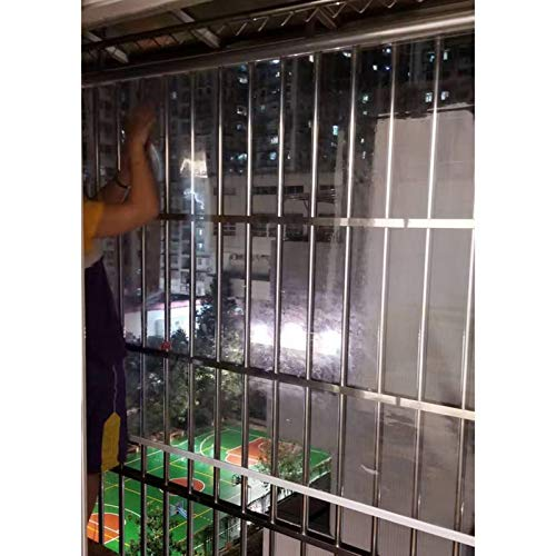 Ciego Transparente de Rodillo Impermeable, Barrera de partición de PVC, Resistente a Prueba de Polvo para balcón Aire Acondicionado (Color : Clear, Size : 120X180CM)