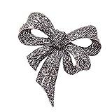 Sprießen Vintage Femmes Rhinestone Broche, Black Brooch Bow Brooch Pin, Bijoux De Mode, Accessoires Du VêTement, Style éLéGant Comme Cadeau pour Femme