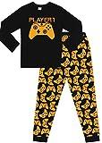 Pijama largo con motivos de videojuegos Dorado Jugador 1 11-12 Años
