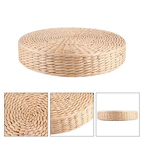 Cojín de asiento japonés, hecho a mano, ecológico, transpirable, acolchado, redondo, puf, tatami, silla, cojín, tejido, paja, plano, asiento, cojín, tatami, zen, yoga, ceremonia del té, decoración