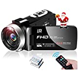ビデオカメラ ハンディーカム ポータブルビデオカメラ ビデオカムコーダーフルHD 1080P 30 FPSナイトビジョン 夜間カメラ 高画質 16倍率デジタルズーム 一時停止機能 3.0インチIPS画面270°回転リモコン付き