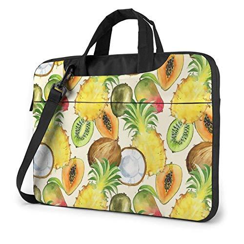 Laptop Bag Satchel Tablet,Pineapple Coconut Laptop Shoulder Bag,Handle Carrying Computer Bag For Women & Men For Business Casual or School