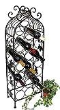DanDiBo Weinregal Metall Schwarz 100 cm JD130665 Flaschenregal Flaschenhalter Weinständer Weinschrank Weinflaschenhalter Vintage