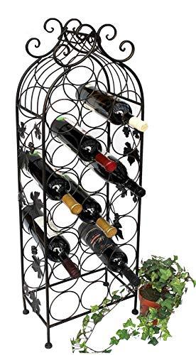 DanDiBo Weinregal Metall Schwarz 100 cm JD130665 Flaschenregal Flaschenhalter Weinständer...