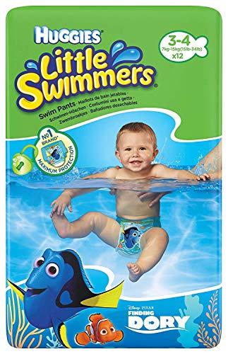HuggiesPiccoli Nuotatori Tg 3-4 (7 Kg-15 Kg) - 12 Pantaloni
