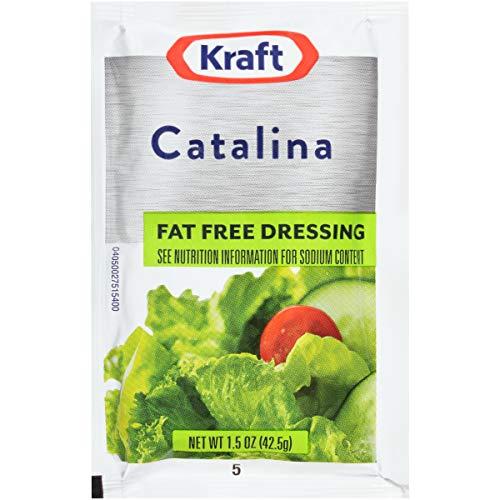 Kraft Fat Free Catalina Salad Dressing Single Serve Packet (1.5 oz Packets,...