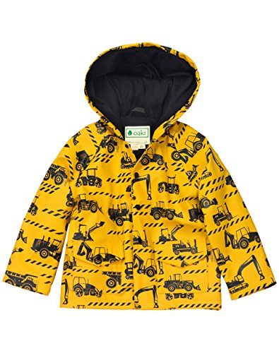 OAKI Children's Rain Jacket, Construction Vehicles 5