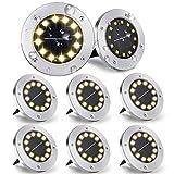 Kooboe Solar Ground Lights, 8 Packs 12 LED...