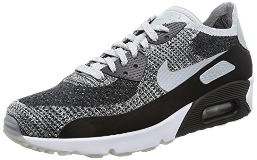 Nike Men's Air Max 90 Ultra 2.0 Flyknit, Black/Wolf Grey-Pure Platinum, 10.5 M US