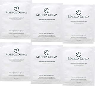MADECA DERMA Ultra Moisture Cotton Mask 1.05 oz.(30g) (Pack of 6) Brightening and Wrinkle Reduction