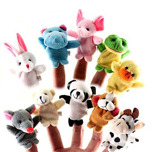 newin-Marionetten-Finger Puppets weichen, Plüsch-Spielzeug, (10Stück)