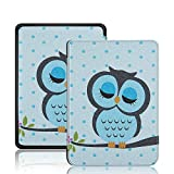 Robustrion Ultra Slim Smart Flip Case Cover for All New Amazon Kindle Paperwhite 10th Generation (Not Compatible with Kindle 10th Gen 2019) Owl