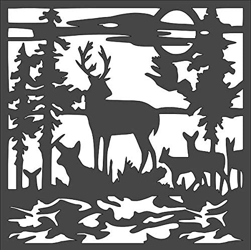 1- 10x10 inch Custom Cut Stencil and Deer Ranking TOP14 VB-20 OFFicial mail order C Family Arts
