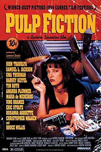 Pulp Fiction Filmplakat Filmposter Kino Movie Quentin Tarantino Uma Thurman John Travolta - Grösse 61x91,5 cm