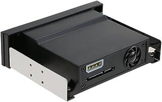 KKmoon Recinto de Bastidor Caja para Disco Duro Móvil de Una Sola Bahía con Luz Indicadora LED Soporte Hot-swap para 2,5 / 3.5 Inches SATA HDD SSD Fit PC 5.25 '' Bahía