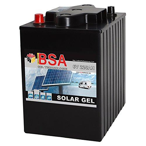 Blei Gel Batterie 6V 225Ah Solarbatterie Antriebsbatterie Versorgungsbatterie statt 180Ah 195Ah