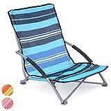 Trail Sisken Low Beach Chair Folding Lightweight Blue Sun Lounger Seat With Bag