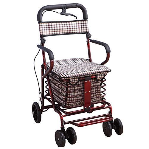LGFV Winkelwagen Oudere Scooter met Armleuningen en rugleuning Geschikt voor grootouders om uit te gaan om voedsel te kopen