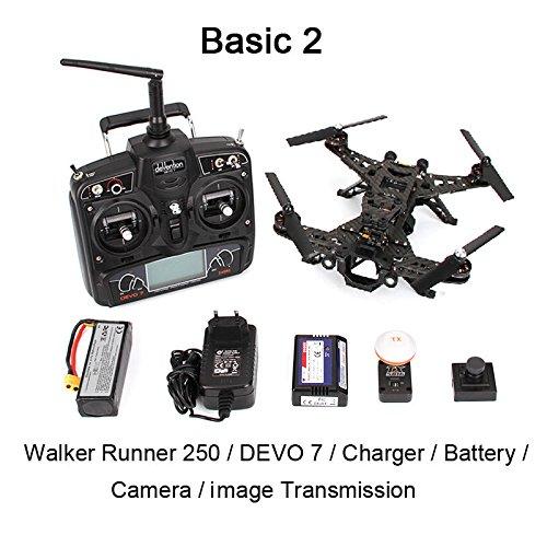 Xiangtat Walkera Runner 250 FPV Racing Quadcopter Drone RTF With Devo 7 & HD Camera & Image Transmission Module & Battery (Basic 2 Version)