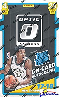 2017/18 Panini Donruss OPTIC NBA Basketball HUGE Factory Sealed 20 Pack Retail Box with 80 Cards! Look for ROOKIES,PRIZMS & AUTOGRAPHS of Donovan Mitchell, Jayson Tatum, Lonzo Ball & More! WOWZZER!