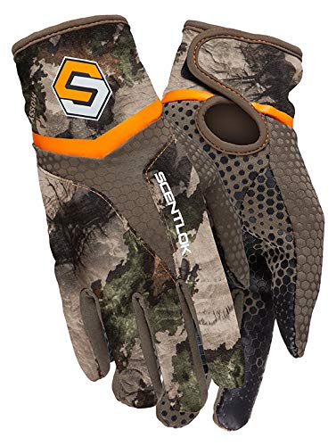 ScentLok Men's Full Season Midweight Bow Release Camo Hunting Gloves