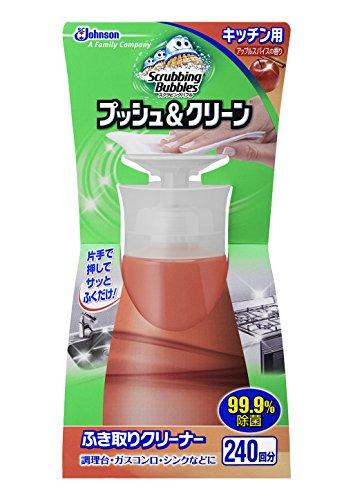 スクラビングバブル プッシュ&クリーン キッチン用 アップルスパイスの香り 300ml