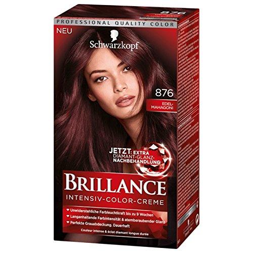 Schwarzkopf Brillance Intensiv-Color-Creme 876 Edel-Mahagoni